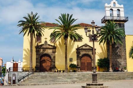 Garachico, Tenerife Island, Spain, 08 JUNE 2015: Street of Garachico Town on Tenerife Island, Canary, Spain Zdjęcie Seryjne - 128137826