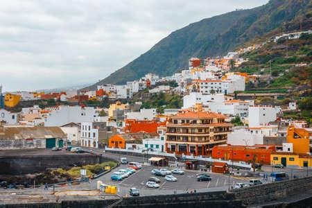 Garachico, Tenerife, Spain, June 08, 2015: Aerial view of Garachico in Tenerife, Canary Islands, Spain Zdjęcie Seryjne - 128137828