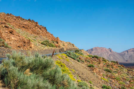El teide volcano in the canary islands with a blue sky in the background, Tenerife, Spain Stock fotó - 127582075