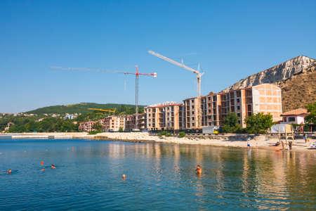 Balchik, Bulgaria, July 09, 2013: city view of balchik, black sea coast in bulgaria Publikacyjne