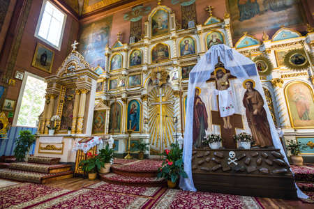 Puchly, Poland, June 09, 2019: Interior of the Orthodox church in Puchly  village, north eastern Poland Zdjęcie Seryjne - 128139016