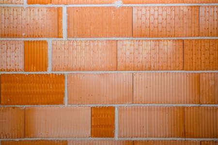 new red brick wall in a newly built house Zdjęcie Seryjne - 128703972