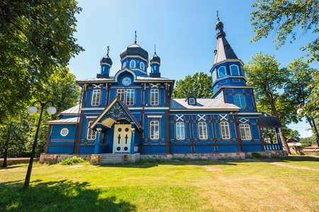 Orthodox church in Puchly  village, north eastern Poland Zdjęcie Seryjne - 128704236