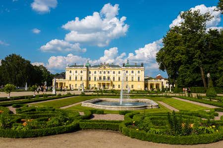 Bialystok, Poland, June 8, 2019: Beautiful architecture of the Branicki Palace in Bialystok, Poland Zdjęcie Seryjne - 128623164