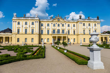 Bialystok, Poland, June 8, 2019: Beautiful architecture of the Branicki Palace in Bialystok, Poland Zdjęcie Seryjne - 128623165