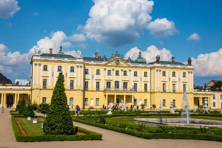 Bialystok, Poland, June 8, 2019: Beautiful architecture of the Branicki Palace in Bialystok, Poland Zdjęcie Seryjne - 128623166