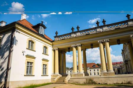 The Tykocin Royal Castle located on the right bank of the river Narew in Tykocin, Poland. Zdjęcie Seryjne - 128670901