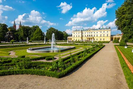 Beautiful architecture of the Branicki Palace in Bialystok, Poland Zdjęcie Seryjne - 128670902