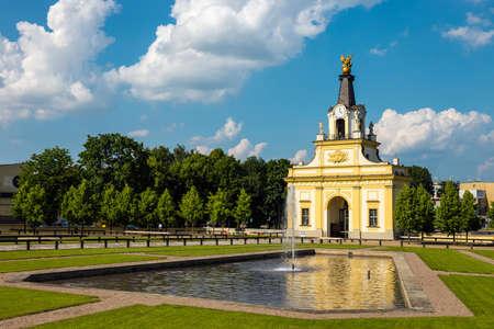 Gate to Branicki palace in Bialystok, Poland Zdjęcie Seryjne - 128670909