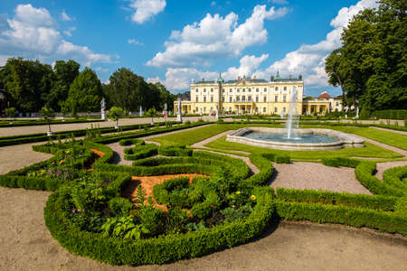 Beautiful architecture of the Branicki Palace in Bialystok, Poland Zdjęcie Seryjne - 128670910