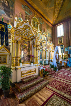 Puchly, Poland, June 09, 2019: Interior of the Orthodox church in Puchly  village, north eastern Poland Zdjęcie Seryjne - 131611450