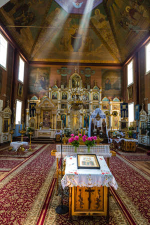 Puchly, Poland, June 09, 2019: Interior of the Orthodox church in Puchly  village, north eastern Poland Zdjęcie Seryjne - 131611452