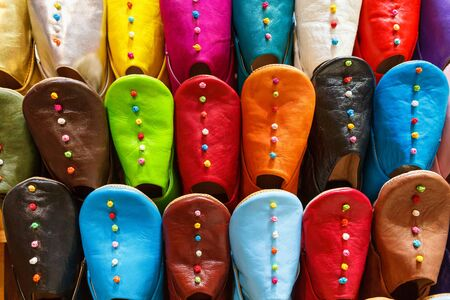 souk: Multicolored slippers on the souk