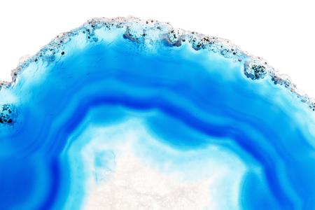 super cross: Abstract background - blue agate slice mineral Foto de archivo