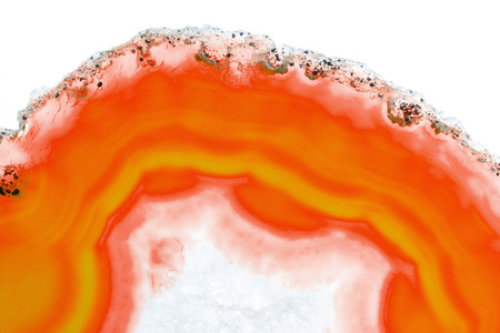 Abstract background - red and orange agate slice mineral