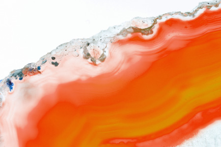 Abstract background - orange slice agate mineral Stock Photo
