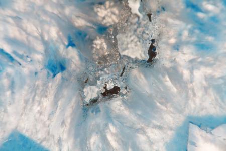 super cross: Macro extrema de mineral de ágata azul