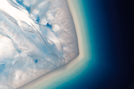 super cross: Extreme macro of blue agate mineral Stock Photo