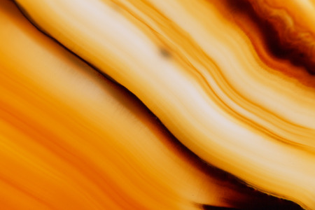 super cross: Extreme macro of orange agate mineral Stock Photo