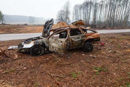 la quemada: Naufragio de coches quemados