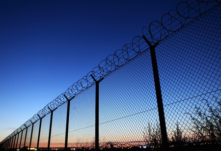 Fence of restricted area Stock Photo - 64149023