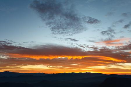 mountainside: Sunrise at mountainside