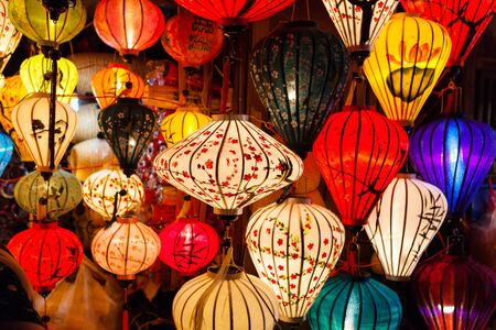 Colorful traditional Vietnam lanterns