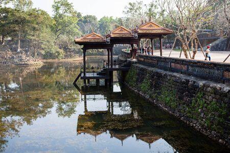 Hue, Vietnam - march 10 2017: Tu Duc Tomb Pagoda