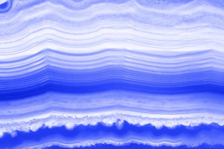 Abstract background - blue striped agate slice mineral