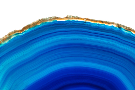 super cross: Abstract background - blue agate mineral cross section isolated on white background