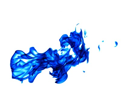 Blue fire flame isolated on white background Stock Photo