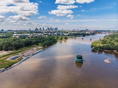 Luftaufnahme von Warschau, der Hauptstadt Polens Standard-Bild