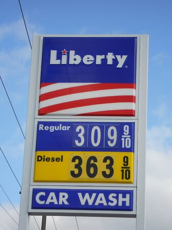 LEWISTONIDAHOUSA _ World economy in danger due to Libyan and other medeast crisis, high Gas price in United SDtates  regulary over 309.galon and diesen 363 at Liberty gas station in USA 25 Feb. 2011   Editorial
