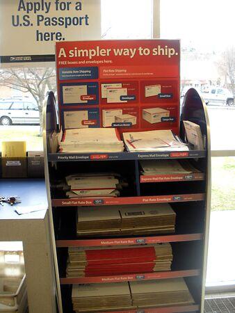 LEWISTONIDAHOUSA _ United states postal serivce at Idaho Post office  united states postal worker 4 March 2011