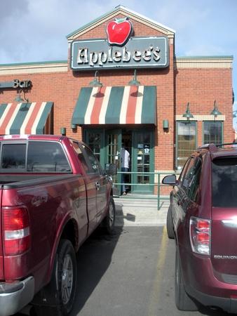 SPOKANEWASHINGTON STATE USA _Food menu at Applebees chain resataurant  7 Mach 2011