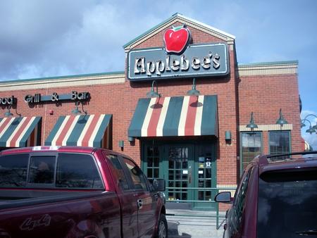 mach: SPOKANEWASHINGTON STATE USA _Food menu at Applebees chain resataurant  7 Mach 2011    Editorial