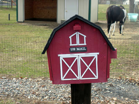 editoiral: LEWISTONIDAHOUSA _  US mail box nd painted horse animal 12 Mzarchi 2011      Editorial