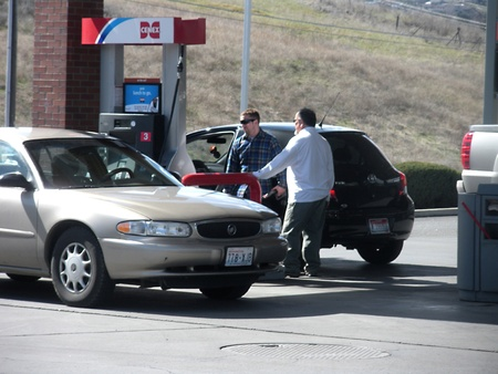 LEWISTONIDAHOUSA _ High gasoline price 3.45 unleaded and 3.65 prem.unld at Cenex Gasoline station 17 March 2011