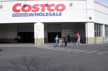 CLARKSTONWASHINGTON STATE USA _ Costco wholesale store and casotco gas station 27 March 2011    Editorial