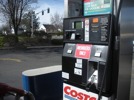 CLARKSTONWASHINGTON STATE USA _ Costco wholesale store and casotco gas station 27 March 2011