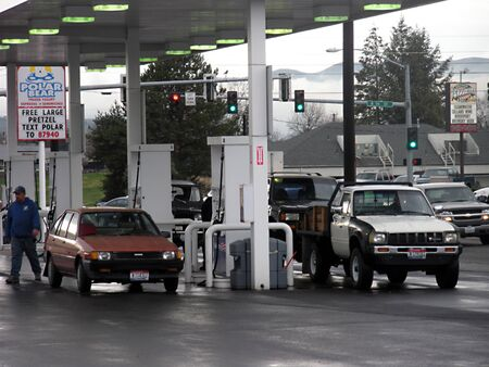 LEWISTONIDAHO STATE USA _ Liberty gas station has raised nickel ga price this today on wedensday 3o March 2011