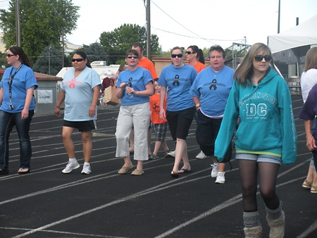 CLARKSTONWASHINGTON STATE USA -American cencer soeity arranged Relay for life fund razing event to cure cancer community from Lewiston Idaho and Clarkston Washington Aston county washington people walk participant walk through the night and some brought