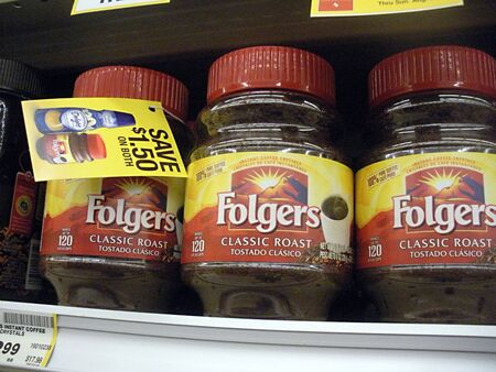 LEWISTONIDAHO STATE USA _ Folger coffee drinker low prices at Safe way food super market 26 August 2011   Editorial