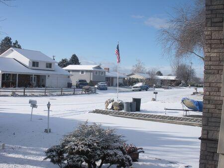 LEWISTON  IDAHO STATE  USA _ Prima nevicata 1 pollice e mezzo di Lewiston Idaho sstate oggi il 16 Jnuary 2012