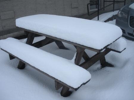 LEWISTON  IDAHO STATE  USA _Heavy neve cade 12 pollici oggi 18 Janaury 2012