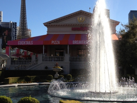 LOS VEGAS  NEVADA USA _New York Steak lunch menu and frozen chocolate drink 28 Nov. 2012