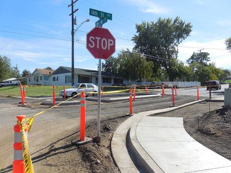 LEWISTON  IDAHO STATE  USA-Rood progetto di costruzione del 14 � strada a valle 5 OCTIBE 2014 Editoriali