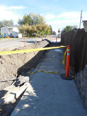 LEWISTON  IDAHO STATE USA- Rood construction project on 14 th street in valley          5 OCTIBE 2014 (