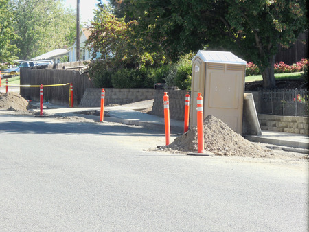 LEWISTON  IDAHO STATE USA- Rood construction project on 14 th street in valley          5 OCTIBE 2014