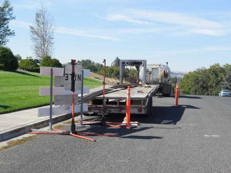 LEWISTON  IDAHO STATE  USA- Rood progetto di costruzione, il 14 � strada a valle 5 OCTIBE 2014